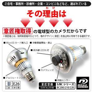 セキュリティーカメラ 赤外線LED搭載 オンロード電球型防犯カメラ(ベイシックモデル) (電球型カメラOnLord:BC-200) f04