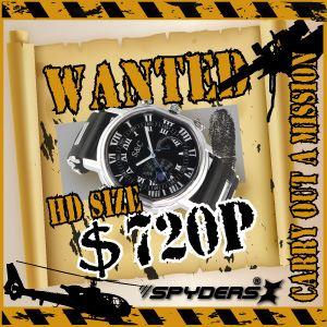 【防犯用】【超小型カメラ】 【小型ビデオカメラ】腕時計 腕時計型 スパイカメラ スパイダーズX (W-770W)ホワイト H.264 1200万画素 16GB内蔵