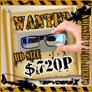 【防犯用】【超小型カメラ】【小型ビデオカメラ】メガネ型 スパイカメラ スパイダーズX (E-230) センターレンズ 16GB内蔵 h02