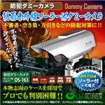 【防犯用ダミーカメラ 屋外】防雨赤外線ソーラー付 (ボックス型シルバー) オンサプライ(OS-163)