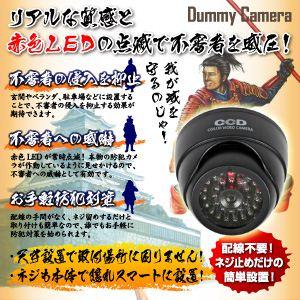 【防犯用ダミーカメラ 屋外】ドーム型赤外線 (暗視タイプ) オンサプライ(OS-166)