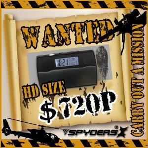 【防犯用】【超小型カメラ】 【小型ビデオカメラ】置時計型 スパイカメラ スパイダーズX (C-500C/ブルー)H.264圧縮対応 常時24時間録画