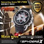 【防犯用】【超小型カメラ】 【小型ビデオカメラ】 腕時計 腕時計型 スパイカメラ スパイダーズX (W-780) フルハイビジョン 赤外線 16GB内蔵 ウレタンバンド