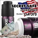 【隠し金庫】 スプレー缶型 セーフティボックス 『SECRET SAFE シークレットセーフ』(OA-375) AXE Body Spray EXITE アメリカン雑貨 米国直輸入 貴重品の保管 収納 タンス貯金 へそくり 防犯 スパイグッズ