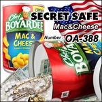 【隠し金庫】 食品缶型 セーフティボックス 『SECRET SAFE シークレットセーフ』(OA-388) Chef Boyardee Mac & Cheese アメリカン雑貨 米国直輸入 貴重品の保管 収納 タンス貯金 へそくり 防犯 スパイグッズ