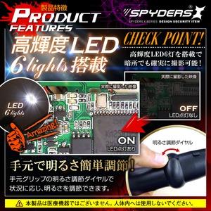 【防犯用】隠しカメラスマホ対応フレキシブルスコープカメラ ファイバースコープ 直径5mmレンズ スパイカメラ スパイダーズX (M-929α) 900mmケーブル 高輝度LEDライト 防水仕様 - 拡大画像