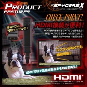 【防犯用】【超小型カメラ】【小型ビデオカメラ】 ボタン型カメラ スパイカメラ スパイダーズX (P-315) 小型カメラ 1080P H.264 60FPS HDMI スマホ接続 f06