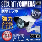 【監視カメラ】【防犯カメラ】【屋外赤外線暗視カメラ】 強力赤外線LEDライト 12mmレンズ オンロード (OL-129) 24時間常時録画 暗視撮影 簡単設置