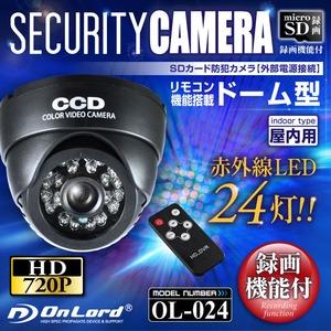 SDカード録画 赤外線搭載 ドーム型防犯カメラ オンロード(OL-024)