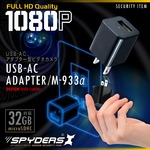 USB-ACアダプター型カメラ スパイダーズX (M-933α) 1080P コンセント接続 動体検知 32GB対応