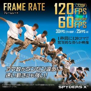 【防犯用】【超小型カメラ】【小型ビデオカメラ】 スパイダーズX キーレス型カメラ 4K 120FPS 128GB対応 スパイカメラ (A-208)