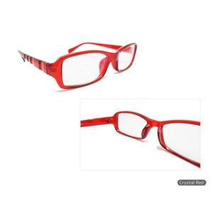 【眼精疲労防止・軽減】コンピューターグラス(パソコン用眼鏡)ケース付 クリスタルレッド 赤 - 拡大画像