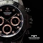 TECHNOS(テクノス) メンズ腕時計 クロノグラフ T4102BP 限定モデル