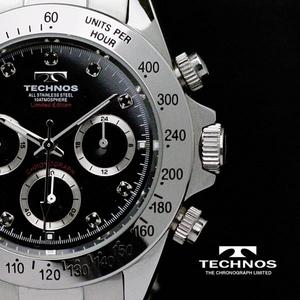 TECHNOS(テクノス) メンズ腕時計 クロノグラフ T4102SH 限定モデル - 拡大画像