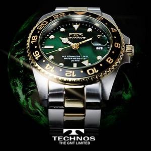 TECHNOS(テクノス) GMT 限定モデル メンズ 腕時計 T2134TG - 拡大画像