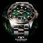 TECHNOS(テクノス) GMT 限定モデル メンズ 腕時計 T2134TG