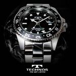 TECHNOS(テクノス) GMT 限定モデル メンズ 腕時計 T2134SB