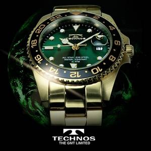 TECHNOS(テクノス) GMT 限定モデル メンズ 腕時計 T2134GG - 拡大画像