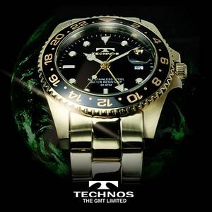 TECHNOS(テクノス) GMT 限定モデル メンズ 腕時計 T2134GB - 拡大画像