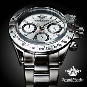 Seventh Wonder(セブンス・ワンダー) クロノグラフ メンズ 腕時計 SILVER SW0191 - 拡大画像