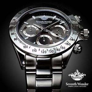 Seventh Wonder(セブンス・ワンダー) クロノグラフ メンズ 腕時計 GUNMETAL SW0192 - 拡大画像