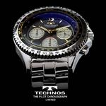TECHNOS テクノス パイロット・クロノグラフ 限定モデル メンズ 腕時計 T4162SH