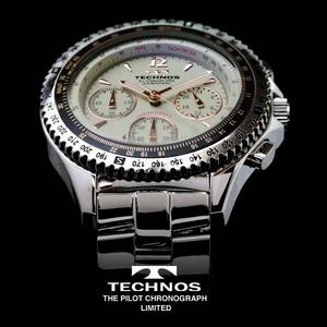 TECHNOS テクノス パイロット・クロノグラフ 限定モデル メンズ 腕時計 T4162SC - 拡大画像
