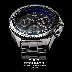 TECHNOS テクノス パイロット・クロノグラフ 限定モデル メンズ 腕時計 T4162SB - 拡大画像