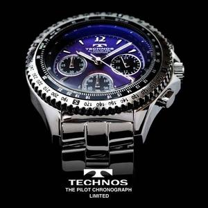 TECHNOS テクノス パイロット・クロノグラフ 限定モデル メンズ 腕時計 T4162SN - 拡大画像