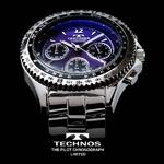 TECHNOS テクノス パイロット・クロノグラフ 限定モデル メンズ 腕時計 T4162SN