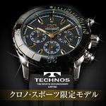 TECHNOS(テクノス) クロノ・スポーツ 限定モデル ブラック/ゴールド メンズ 腕時計 T2163SH