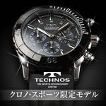 TECHNOS(テクノス) クロノ・スポーツ 限定モデル ブラック メンズ 腕時計 T2163SB