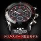 TECHNOS(テクノス) クロノ・スポーツ 限定モデル ブラック/レッド メンズ 腕時計 T2163SR - 縮小画像1