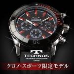 TECHNOS(テクノス) クロノ・スポーツ 限定モデル ブラック/レッド メンズ 腕時計 T2163SR
