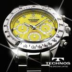 TECHNOS(テクノス) メンズ腕時計 クロノグラフ T4102SY 限定モデル