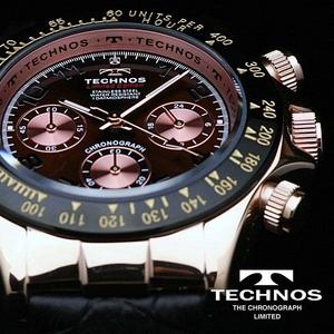TECHNOS(テクノス) メンズ腕時計 本革 クロノグラフ T4161PA 限定モデル - 拡大画像