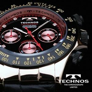 TECHNOS(テクノス) メンズ腕時計 本革 クロノグラフ T4161PB 限定モデル - 拡大画像