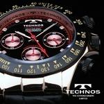 TECHNOS(テクノス) メンズ腕時計 本革 クロノグラフ T4161PB 限定モデル