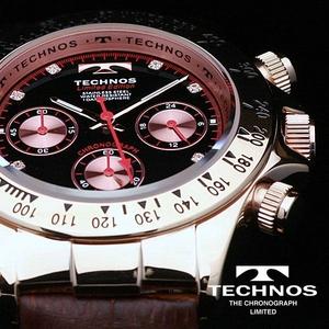 TECHNOS(テクノス) メンズ腕時計 本革 クロノグラフ T4161PH 限定モデル - 拡大画像