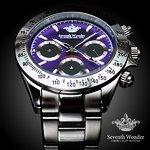 Seventh Wonder(セブンス・ワンダー) クロノグラフ THE THIRD EYE メンズ 腕時計 PURPLE SW0194