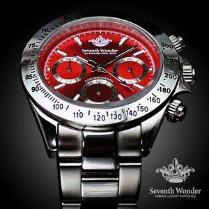 Seventh Wonder(セブンス・ワンダー) クロノグラフ THE THIRD EYE メンズ 腕時計 RED SW0195 - 拡大画像