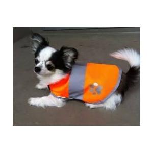 DOG SAFETY VEST(ドッグ セーフティーベスト) 蛍光オレンジ M - 拡大画像
