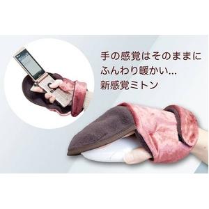 バレンタイン2012★冷え性男子に人気!フワフワあったか手袋 デスクミトン(ローズ) 右手用