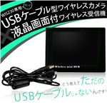 WIS230専用セット USBケーブル型ワイヤレスカメラ&液晶画面付ワイヤレス受信機
