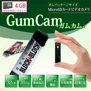 【microSDカード4GBセット】 クリップ付き 超小型ビデオカメラ HD-2000K - 拡大画像