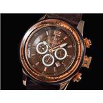 GALLUCCI(ガルーチ) 腕時計 クロノグラフ WT23189CH-BR