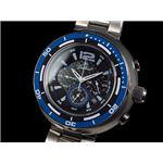 GALLUCCI(ガルーチ) 腕時計 ビッグケース クロノ WT22674CH-BL