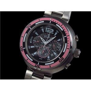GALLUCCI(ガルーチ) 腕時計 ビッグケース クロノ WT22674CH-PK - 拡大画像