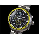 GALLUCCI(ガルーチ) 腕時計 ビッグケース クロノ WT22674CH-YL