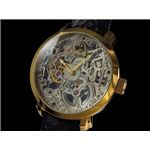 GALLUCCI(ガルーチ) 腕時計 手巻き スケルトン WT22200SK-GDBK